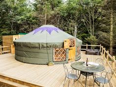 The very unique and quirky The Rowan Yurt in the Peak District is ideal for a romantic getaway for two with a difference!