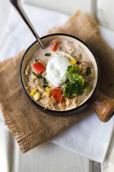 White Chicken Chili for the Slow Cooker