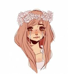 Flower Crown Drawing, Drawing Flowers, Character Inspiration, Character Art, Art Pastel, Cute Girl Drawing, Little Girl Drawing, Cute Art Styles, Dibujos Cute