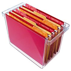 Clear Plastic Hanging File Organizer - holds x hanging file folders Hanging File Organizer, Hanging File Folders, File Organiser, Organizers, File Folder Organization, Office Organization, Household Organization, Paper Organization, Office Storage