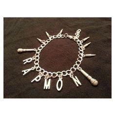 KPOP BTS Rap Monster Bracelet ❤ liked on Polyvore featuring jewelry, bracelets, hinged bangle, christmas jewelry, bracelets bangle, hinged bracelet and bangle jewelry