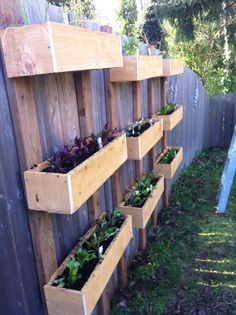 Hanging Planter Boxes For Fence   Google Search