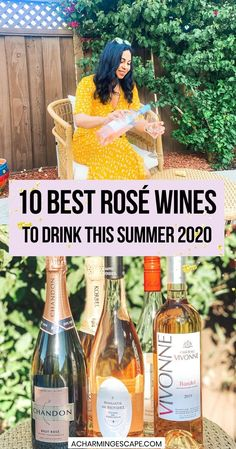 10 Best Rosé wines for summer 2020. most of our summer will be spent at home chilling in our backyards (sipping wine). And what better than a chilled rosé by the pool? If you are confused on what kind of rosé to buy or game to try a new one, check out my list of best rosés to try this summer. You will not be disappointed! | Best wines for summer | best roses for Summer | Best Rosé wines for summer 2020 | Best Rose Wine, Domaine Chandon, Best Roses, Provence Rose, Famous Wines, Growing Grapes, Red Grapes, Tropical Fruits, Wineries
