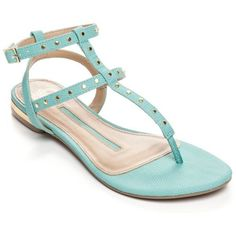 New Directions Turquoise Katelin Studded Gladiator Sandal - Women's ($20) ❤ liked on Polyvore featuring shoes, sandals, turquoise, gladiator sandals, embellished gladiator sandals, summer shoes, gladiator sandals shoes and turquoise sandals
