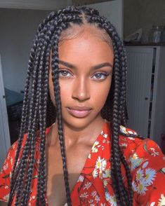 Black Girl Braids, Braided Hairstyles For Black Women, Braids For Black Hair, Girls Braids, Quick Braided Hairstyles, Box Braids Hairstyles, Girl Hairstyles, Hairstyles 2018, African Hairstyles