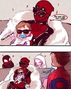 Nanako The Blazin' Fairy (Posts tagged earth Deadpool X Spiderman, Spiderman Art, Batman Comics, Anime Comics, Funny Marvel Memes, Marvel Jokes, Marvel Heroes, Marvel Avengers, Spideypool