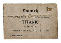 Titanic launch ticket