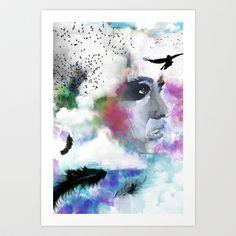 Model_birds Art Print by Claudia Godinho - $24.96