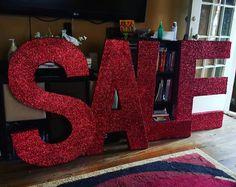 Sample for a prospective future order.. all done!#redglitter #sale #etsy #shophandmade #etsyseller #etsyshop #etsyshopowner #designsbydazey #uniquelyetsy #etsyfind #storedisplay #nevada