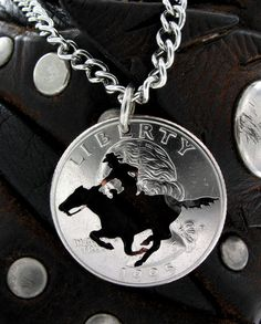 Galloping Horse hand cut coin by NameCoins on Etsy, $29.99