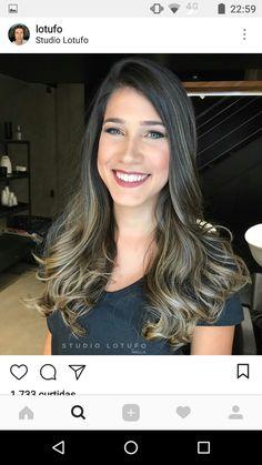 Top Hairstyles, Summer Hairstyles, Pretty Hairstyles, Hair Color Dark, Dark Hair, Natural Hair Highlights, Lisa Hair, Corte Y Color, Curl Styles