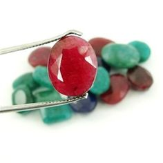 wholesale ruby, emerald and sapphire stones parcel for $39