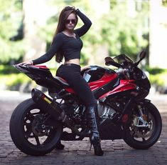 Super Bikes & Hot Girls 2019 Compilation - Stunts, Wheelie and Burnout Girl Riding Motorcycle, Dirt Bike Girl, Lady Biker, Biker Girl, 50 Cm3, Motocross, Biker Chick Outfit, Cafe Racer Girl, Hot Bikes