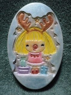 Holiday Soap -Reindeer Girl Soap - pinned by pin4etsy.com