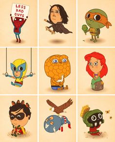 Various characters by Mike Mitchell