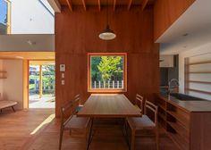House in Japan designed by Kazuki Moroe to respect the shrine next door.