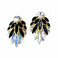 2014 Susenstore Fashion Beautiful Occident Exquisite Crystal Earrings Stud Earrings (Black) #women's fashion #earring #beautiful #elegant #fashion #earring