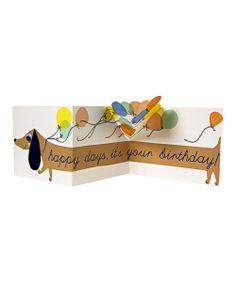Sausage Dog Pullout Birthday Card - soooo cute!