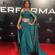 Real Photos Arabic Formal Evening Dress With Long Cape Beaded Boat Neck Blue Evening Gowns Avondjurken Lange Party Dresses 2017