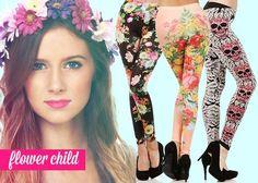 Flower Child. #worldofleggings #leggings #floralprint http://www.worldofleggings.com/colorful_leggings_s/1821.htm