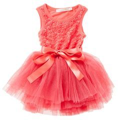 Whether it be a summer garden party, lunch at grandma's or a very special occasion this dress covers them all!  Gorgeous coral girls tutu dress by Designer Kidz!  Little Boo-Teek - Designer Girls Dresses | Girls Party Dress Online | Tutu Dress