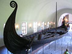 A Viking ship on display in the Viking Ship Museum in Oslo, Norway. Photograph by David F. Barrero.