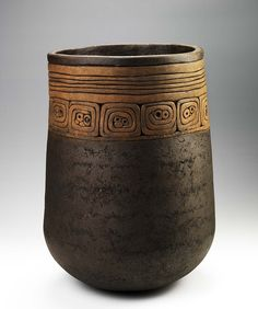 Roberta Marks | Coiled Earth Planter.  ca. 1975.  Low fire clay