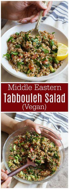 tabbouleh salad | tabouli salad | tabbouleh | tabbouli | bulgur salad | Middle Eastern salad | Mediterranean salad | Healthy Salad recipe | vegan salad recipe | vegan recipes | #vegan #veganrecipes #healthyrecipes #mediterraneanrecipes #healthysalad #saladrecipe #tabbouleh #tabouli via @UnicornsKitchen