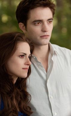 Edward and Vampire Bella when they approach Jacob for the first time since she changed into a vampire.....The Twilight Saga: Breaking Dawn Part 2