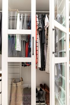 Walk-in Closet Makeover with IKEA PAX - Crazy Wonderful Ikea Pax Closet, Ikea Pax Wardrobe, Wardrobe Storage, Wardrobe Closet, Closet Storage, Living Room Tv Cabinet, Ikea Living Room, Living Rooms, Walk In Closet Small