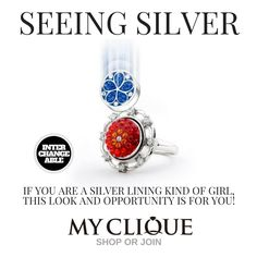 Create a piece of jewelry that expresses YOU!   Shop www.mycliquejewelry.com for the hottest new look in silver jewelry!