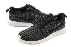 81f866cba8c9f Nike Flyknit Roshe Run One Black White
