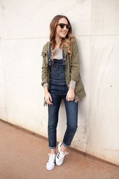Styling overalls for the weekend