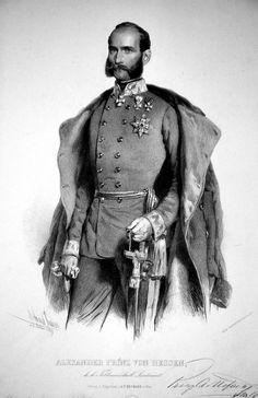 Alexander von Hessen-Darmstadt,i cui figli ,nati dal matrimonio morganatico con Julia von Hauke, si chiamernno Battenberg e saranno:MARIA ,LUIGI POI MARCHESE DI MILFORD HAVEN,ALESSANDRO POI PRINCIPE DI BULGARIA, ENRICO PARI DEL REGNO UNITO E COLONNELLO BRITANNICO, FRANCESCO GIUISEPPE