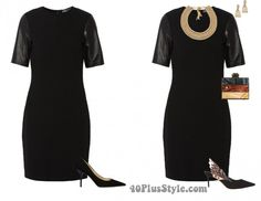 How to complete your outfits with accessories - LBD sophia webster pumps gold statement necklace | 40plusstyle.com
