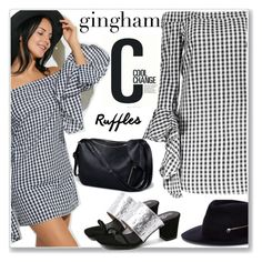 """Preppy Gingham Dress"" by jecakns ❤ liked on Polyvore featuring Larose and Cool Change"