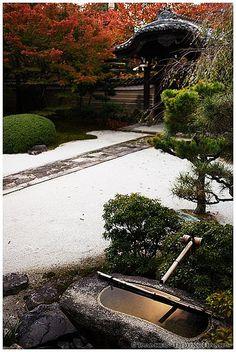 Last light reflection in Myoken-ji temple (妙顕寺), Kyoto, Japan