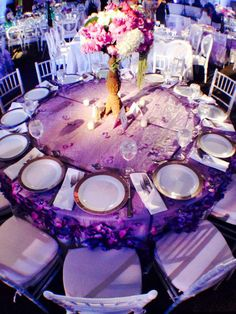 Tablescape-Bat Mitzvah at Stephen Wise Temple