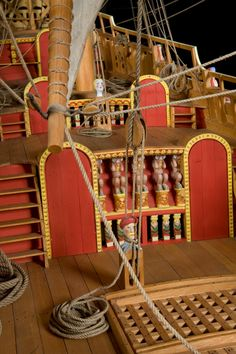 The Vasa's colorful deck.
