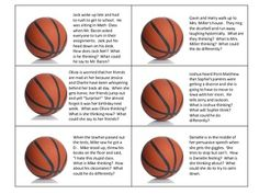 Slam Dunk Perspective Taking: This freebie download focuses on teaching emotions, perspective taking, and social problem solving using social scenarios