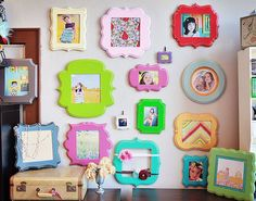 Angela Langford Photography: {organic bloom frames}  Super Cute multi color frames for wall collage