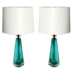 Venini Art Glass Table Lamps