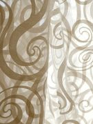 "Fabricut Vespa sheer curtain fabric  --- 70% cotton, 30% poly, doublewidth (126""). Luxury quality, great price."