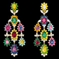 "Cher Dior - ""Exquise Saphir Rose"" earrings. Discover more on www.dior.com"