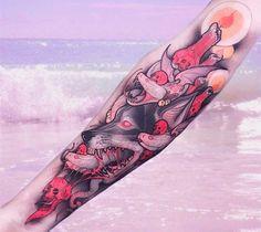 Une sélection des magnifiques tatouages de l'artiste italien Brando Chiesa, basé à Florence, qui imagine des animaux fantastiques inspirés par la mythologi