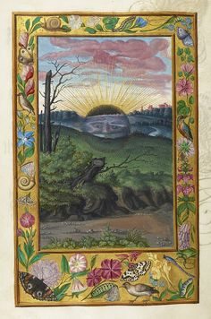 """Image of the """"Black Sun"""", from Splendor Solis, a German alchemical treatise, 1582 