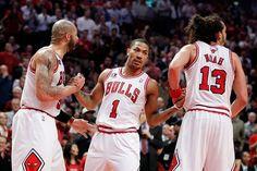 Bulls; Lou Deng, Rose and Noah.