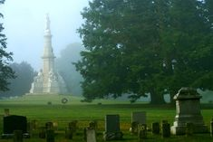 """Gettysburg National Cemetery: Worth a visit to see where Lincoln gave the Gettysburg Address. Also very sobering to see the graves of the Civil War soldiers, many marked """"unknown."""""""