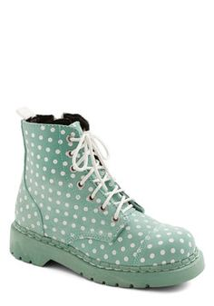 Modcloth Funky Footprints Boot in Mint