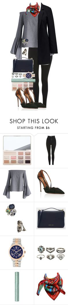"""Misty"" by paolasofiaburgos ❤ liked on Polyvore featuring Topshop, Chicwish, Aquazzura, Sorrelli, CHARLES & KEITH, MICHAEL Michael Kors, Charlotte Russe, Hermès and Vero Moda"